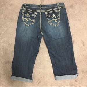 🇨🇦 Suko Women's Capri Dark Wash Jeans, Size 12,